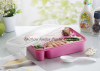 Cheap colorful good quality plastic bento 4 compartment lunch box