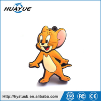 Mini pendrive alibaba Tom and Jerry Silicone high quality USB 2.0 1/4/8/16/32/64GB Wristband USB flash Drive