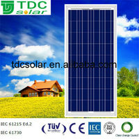 high efficiency 125w transparent solar panel with TUV,IEC,CE certificate