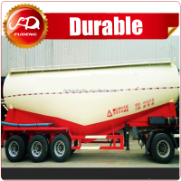 40CBM 3 axle bulk cement tank semi-trailer for powder particle wheat flour transportation