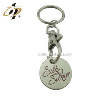 Promotional custom logo cheap token coins with keyring