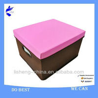 folding cardboad attached lid storage box container