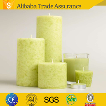 branded non-toxic decorative color lime orange scented Candle in bulk