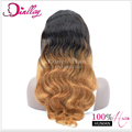 Top quality custom natural looking ombre color lace wig