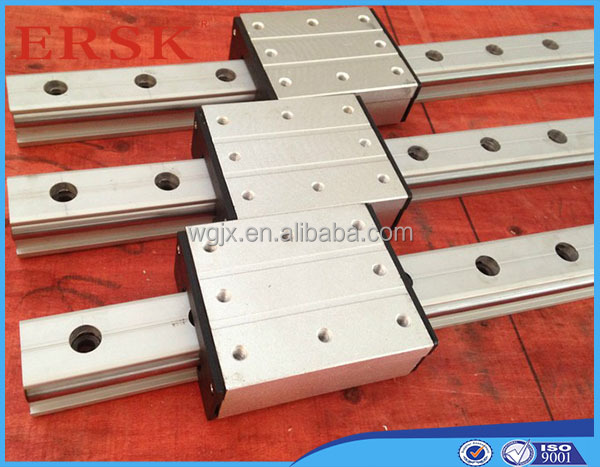 No Complain aluminium support and GCr15 bearing linear shaft cylindrical linear guides LGD8 with <strong>L1000</strong> length and cases