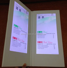 Customized led menu for restaurant