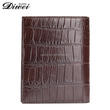 2016 popular product brown real leather wallet men purse with flap
