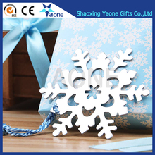Wedding Favors Best Gifts Silver Color Snowflake Shaped Metal Stainless Steel Bookmark With Gift Box