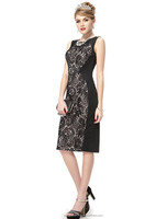 Charming Stylish Black Lace Short Summer Casual Pencil Dress HE05336BK