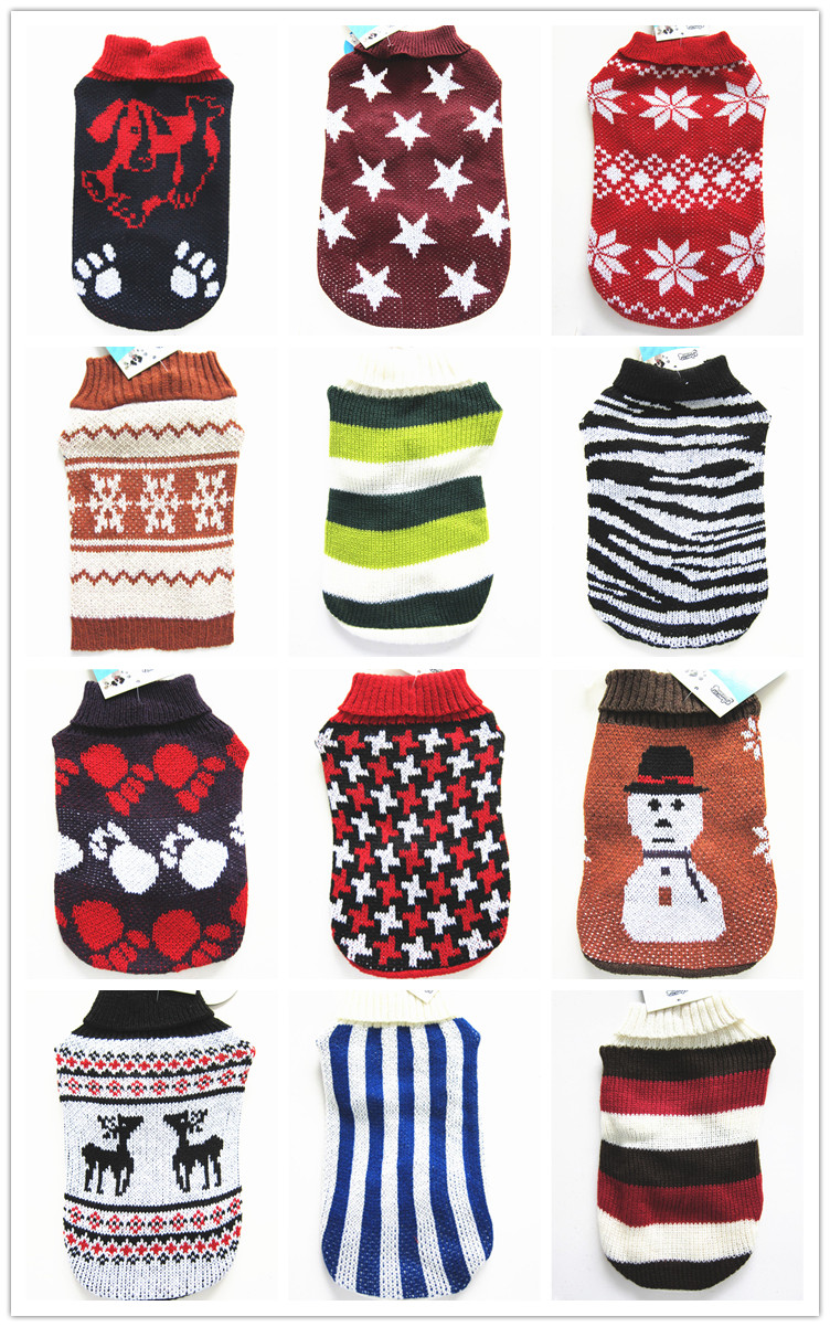 Wholesale Pet Product Supply Dog Sweater winter dog apparel fair isle knitting