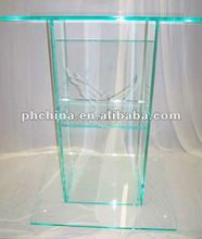 CD-008 Glass Colored Large Standard Style Large Acrylic Church Pulpit;PMMA Lectern/Speaker Stand;Plexiglass Podium