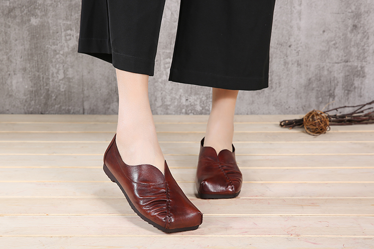 2018 summer new design comfortable soft leather women casual shoes