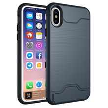 Unique Products 2018 Accessories Case Mobiles Kick Stand Case Phone Cover for iPhone 8 With Card Holder
