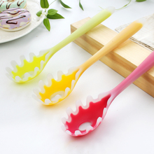 Kitchen Utensil Translucence Silicone Spaghetti Serving Spoon Pasta Spoon Noodle Spoon