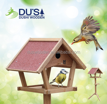 Cheap wooden bird table Outdoor bird house Bird feeder