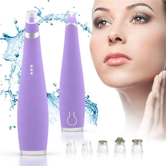 FDA Silicone Facial Pore Cleansing Blackhead Remover Vacuum <strong>Device</strong>