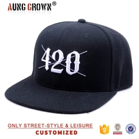Custom One Direction 100% Acrylic Snapback Hat Embroidery Front