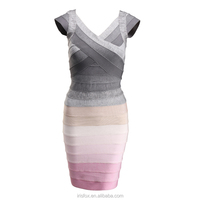 Designer pencil dresses nice patchwork dress for elegant women
