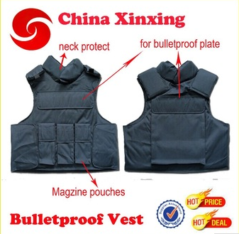 NECK PROTECTION STAB PROOF MILITARY BULLETPROOF VEST with MAGZINE POUCH AND PLATE POCKET