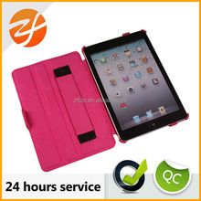 Hot selling hand clip leather case for ipad mini,for ipad mini smart case