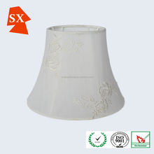 Oriental embroidered beige rose bouquet woven fabric reading lampshade