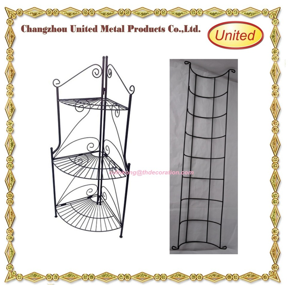 China hot sale Adjustable wire flower roses pot nice display stand for Garden in 2017