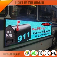 high quality p6 indoor advertising screen/mobile traffic signs/led display moving message bus screen