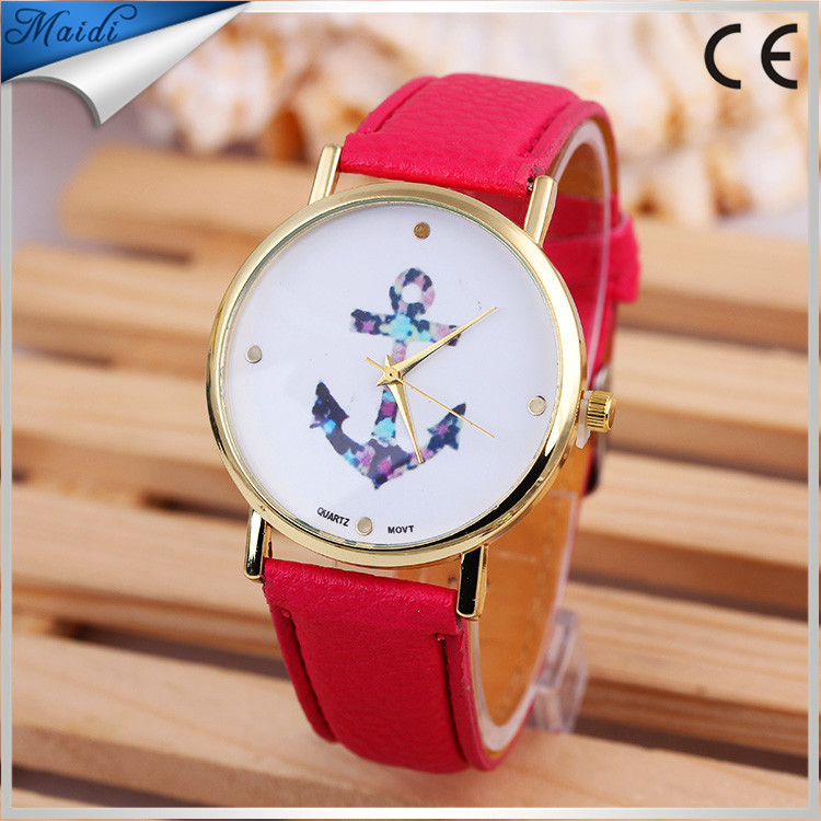 Brand New Promotion Anchor Watches Leather Watch For Ladies Women Quartz Watches Band Colors relojes mujer LW048
