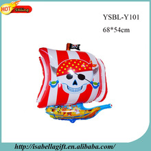 Fashion colorful pirate cartoon boat balloon with helium for decorating