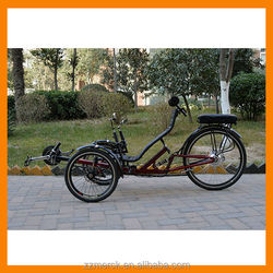 250W recumbent trike three wheel motor vehicle