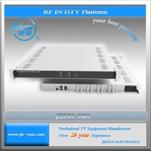 JXDH-7004 8 DVB-S2 Satellite to ip converter/ASI RF in ip out rf to ip converter