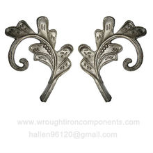 decorative wrought iron flowers and leaves cast steel fence parts