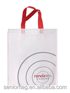 plastic non woven shopping bag accepting Customized Logo