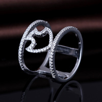 best selling products 925 silver ring design for girl stamp logo S925