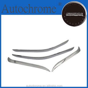 Car Accessory Chrome Bumper Decoration Set for Hyundai Santa Fe 2013