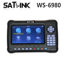 Genuine Satlink WS-6980 7inch HD LCD Screen DVB-S2&DVB-T/T2&DVB-C Combo Finder with Spectrum Analyzer constellation finder