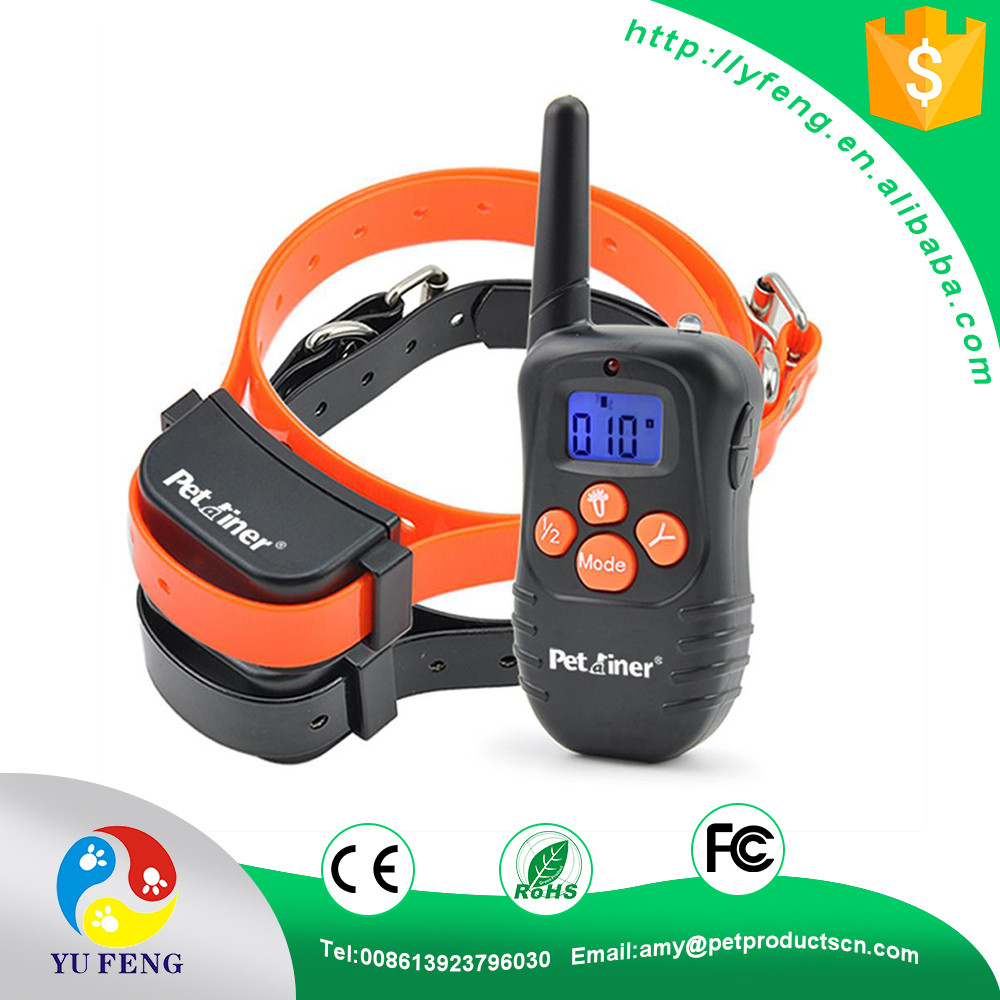 Newest Hot Sale 300M Rechargeable And Waterproof Shock Vibra Remote Control LCD Electric Pet Dog Training Collars for pets