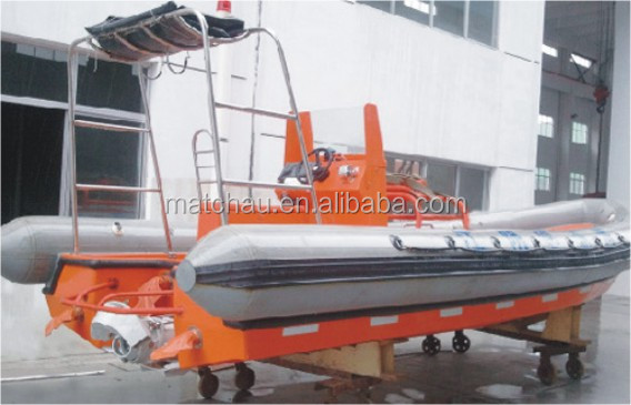 SOLAS Approval Rigid Hull Inflatable Fender Fast Rescue Boat (Outboard Engine)