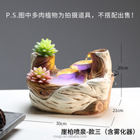 Roogo Resin Tabletop Decor Succulent Plants