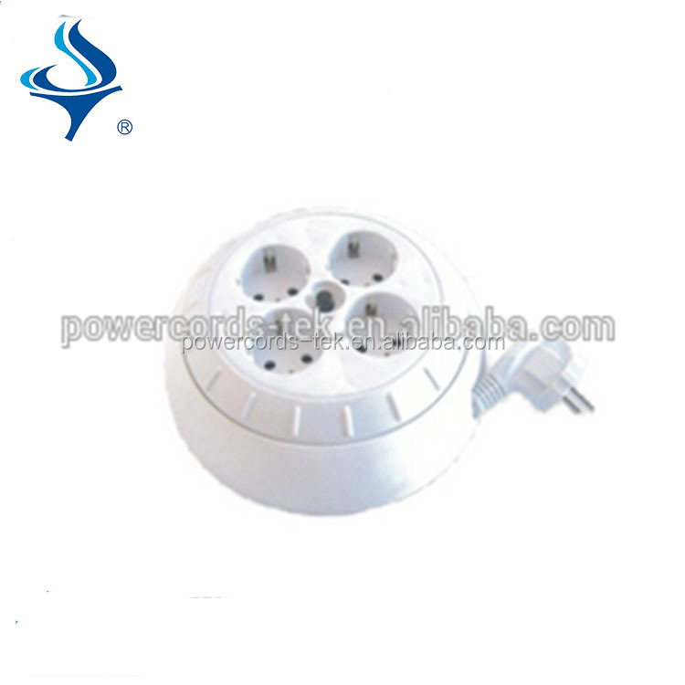 4 way socket of European extension cable reel