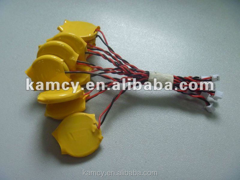 alibaba china 210mah 3v cr2032 battery lithium button cells with wire and connector cr2016 cr2025 cr2450