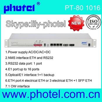 16E1+10/100M Ethernet to fiber optical PDH converter modem