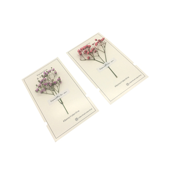 Handmade Coated Paper Greeting card with dry flower