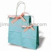 kraft paper bag,gift bag with twisted paper cord handle