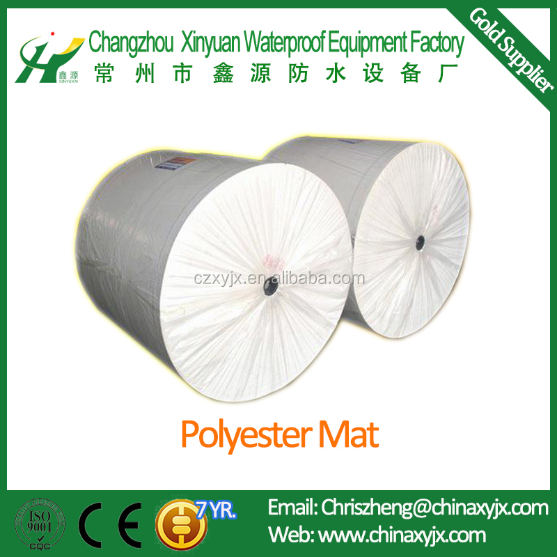 Non-woven Polyester Mat Used For Bitumen Waterproof Membrane Reinforcement