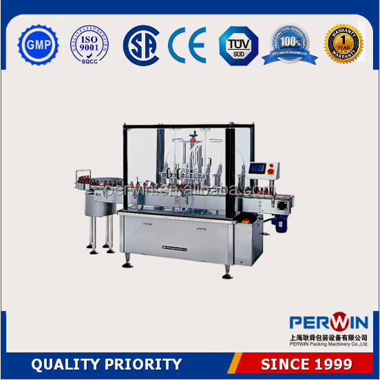 PLC controlled low cost liquid filling line,bottle washing filling capping machine