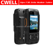 IP67 Waterproof 4G LTE Zello Android Walkie Talkie PTT Alps F30 Mobile Phone
