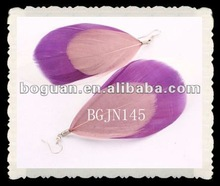 2012 fashion grizzly rooster feather earrings