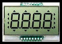 segment HTN LCD display with pin connection