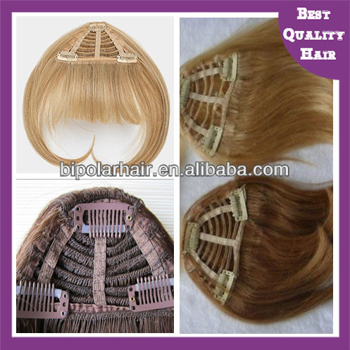 Top Sale raw Unprocessed Virgin brazilian Hair remy hair clip on bangs for black woman